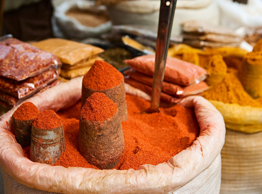 Spices, dried food and cereals, Nepal