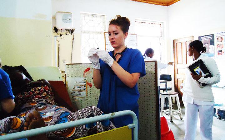On the ward in Arusha, Tanzania