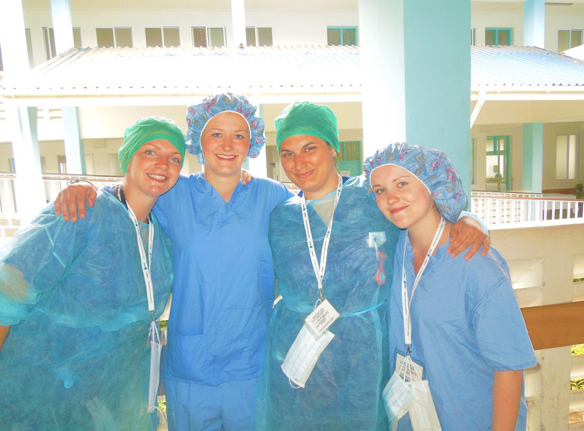 Medical students in Arusha's Regional Hospital