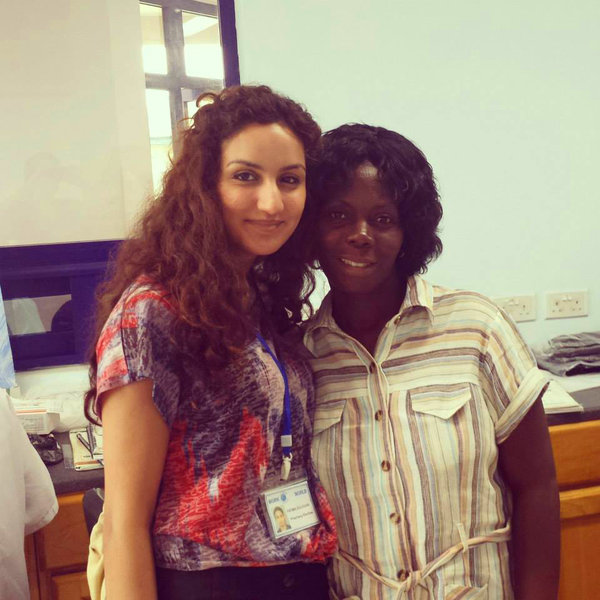 Fatima with her supervisor | Pharmacy in Ghana